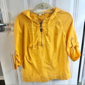 Michael Kors bright yellow jacket/shirt. Sz Medium